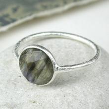Sterling Silver & Labradorite Gemstone Ring