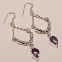 Sterling Silver Amethyst Earring 6.20