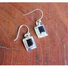 Sterling Silver Iolite Earrings, Iolite Jewelry, 925 Sterling Silver Jewelry, Dangle Earrings, Statement Earrings