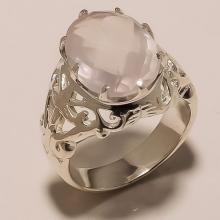 Sterling Silver Jewelry Rose Quartz Gemstone Designer