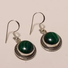 Sterling Silver Melakite Earring