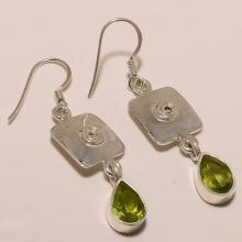 Sterling Silver Peridot Earring 5.33