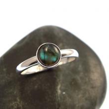 Sterling Silver Ring with Labradorite - Gemstone Ring
