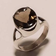 Sterling Silver Smokey Ring