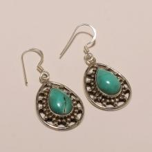 Sterling Silver Turquoise Earring 6.30