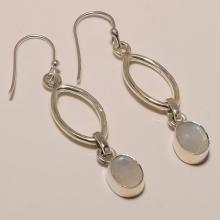 Sterling Silver White Rainbow Earring 4.44