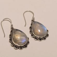 Sterling Silver White Rainbow Earring