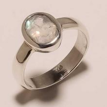 Sterling Silver White Rainbow Ring