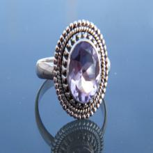 Superb Designer Amethyst Gemstone Ring, 925 Sterling Silver Jewelry