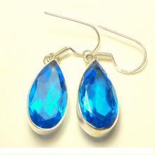 Topaz Earrings, Sterling Silver Earrings, London Blue Gemstone Earrings, Spring Colors, Gem Drop Earrings, Mother's Day, Natural Stones