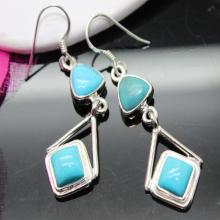 Turquoise Earrings, Sterling Silver Earrings, Gemstone Earrings