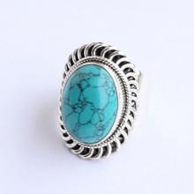 Turquoise Ring- 925 Solid Sterling Silver Turquoise Stone Ring