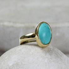 Turquoise ring,December birthstone ring,gold ring,stackable rings,stacking rings,gold stack ring,gemstone ring