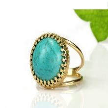 Turquoise ring,large statement ring,stone ring,gold ring,solid gold ring,rose gold ring,December birthstone ring