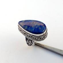 Vintage BLUE LAPIS LAZULI GemStone Ring - Size 8 Ring - 925 Sterling Silver Ring - Lapis Lazuli Silver Ring