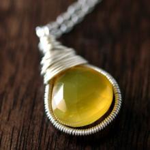 Yellow Chalcedony pendant