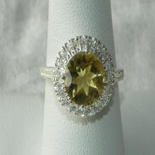 Yellow Topaz Ring Amazing Handmade Lemon Semiprecious Faceted Gemstone Ring Sterling Silver  Gemstone Jewelry