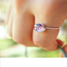 8mm faceted alexandrite ring. stacking gemstone ring. color changing