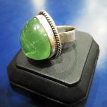 amber fashion stylish silver  ring