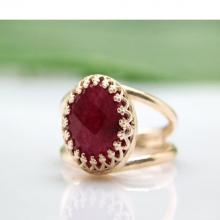 delicate ruby ring,gold ring,gemstone ring,July birthstone ring,vintage ring,bridal ring