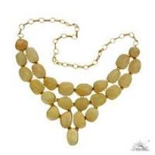 gold plated silver jewellery necklace