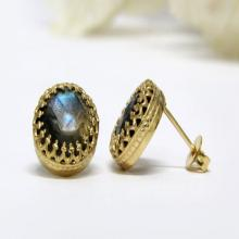gold post earrings,Labradorite earrings,gemstone earrings,delicate stone earrings,small stud earrings
