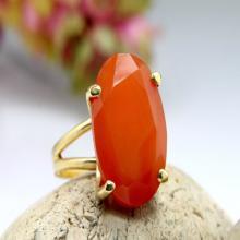 orange aventurine ring,gold gemstone ring,gold oval ring,orange ring,peach ring,prong setting ring