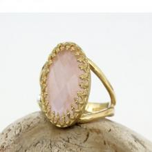 rose quartz ring,gold ring,gemstone ring,love ring,pink ring,feminine ring,vintage ring,rose ring,oval ring