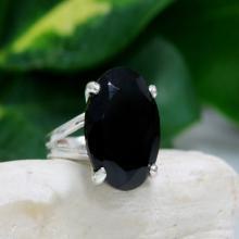 silver black onyx ring,custom rings,