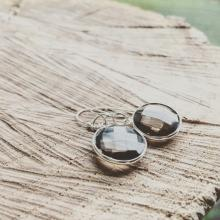 terling Silver Black Onyx Gemstone Earrings - Everyday Wear