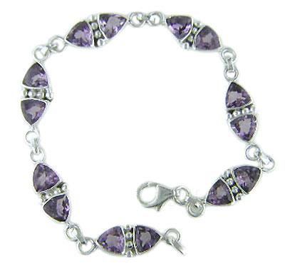 stylish trilian shape sterling bracelet